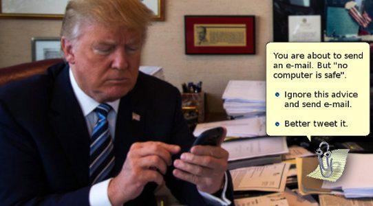 """""""Kein Computer ist sicher"""" (Donald Trump, 1.1.2017)"""