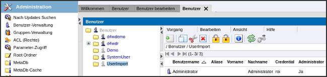 agorum: Benutzer bearbeiten