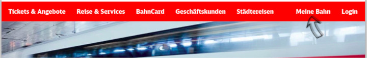 Screenshot der Website bahn.de
